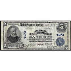 1902 PB $5 National Bank of Commerce in St. Louis, MO CH# 4178 National Currency Note