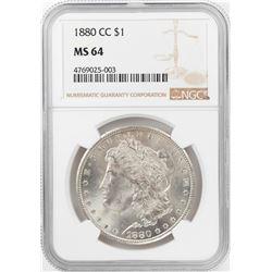 1880-CC $1 Morgan Silver Dollar Coin NGC MS64
