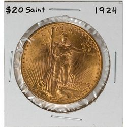 1924 $20 Saint Gaudens Double Eagle Gold Coin