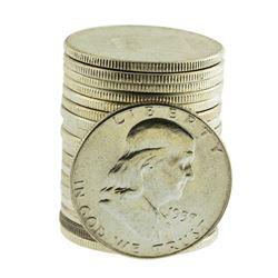 Roll of (20) Brilliant Uncirculated 1957 Franklin Half Dollar Coins