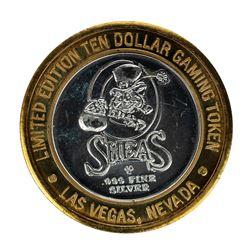 .999 Silver Osheas Casino Las Vegas, Nevada $10 Casino Limited Edition Gaming Token
