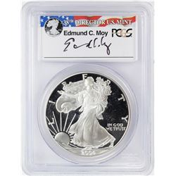 2004-W $1 Proof American Silver Eagle Coin PCGS PR69DCAM Moy Signature