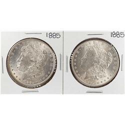Lot of (2) 1885 $1 Morgan Silver Dollar Coins