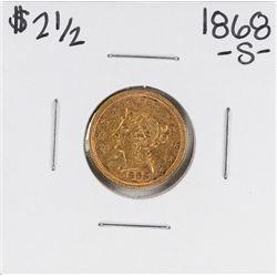 1868-S $2 1/2 Liberty Head Quarter Eagle Gold Coin