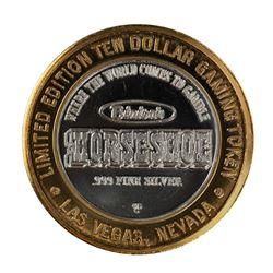 .999 Silver Horseshoe Las Vegas $10 Casino Limited Edition Gaming Token