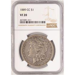 1889-CC $1 Morgan Silver Dollar Coin NGC VF20