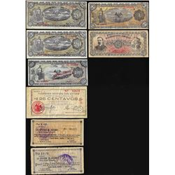 Lot of (8) Mexico Revolutionary Mixed Notes