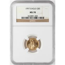 1997 $5 American Gold Eagle Coin NGC MS70