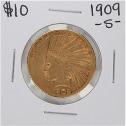 1909-S $10 Indian Head Eagle Gold Coin
