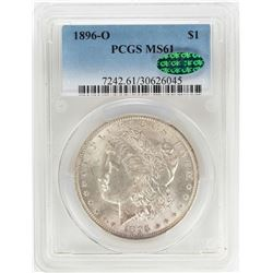 1896-O $1 Morgan Silver Dollar Coin PCGS MS61 CAC