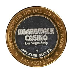 .999 Silver Boardwalk Casino Las Vegas, NV $10 Limited Edition Gaming Token