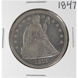 1847 $1 Seated Liberty Silver Dollar Coin