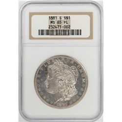 1881-S $1 Morgan Silver Dollar Coin NGC MS65 PL