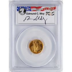 2015 $5 Wide Reeds American Gold Eagle Coin PCGS MS70 Moy Signature First Strike