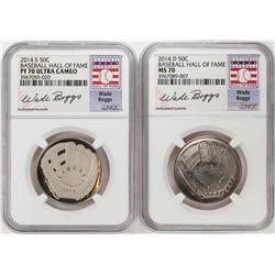 2014 Baseball Hall of Fame Half Dollar Coins NGC MS70/PF70 Ultra Cameo Wade Boggs Set