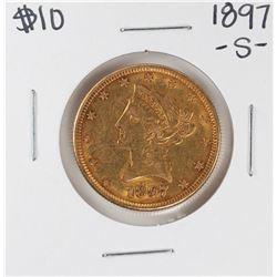1897-S $10 Liberty Head Eagle Gold Coin