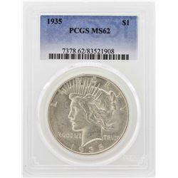 1935 $1 Peace Silver Dollar PCGS MS62