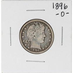 1896-O Barber Quarter Silver Coin
