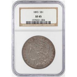 1893 $1 Morgan Silver Dollar Coin NGC XF45