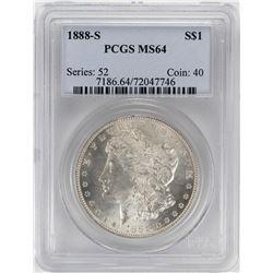 1888-S $1 Morgan Silver Dollar Coin PCGS MS64