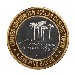 .999 Silver Mirage Las Vegas Nevada $10 Casino Limited Edition Gaming Token