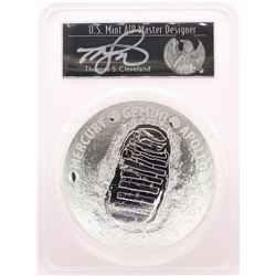 2019-P $1 Apollo 11 50th Anniversary 5oz Silver Coin PCGS PR70DCAM Cleveland Signed