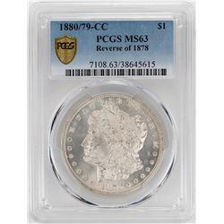 1880/79-CC Reverse of 1878 $1 Morgan Silver Dollar Coin PCGS MS63