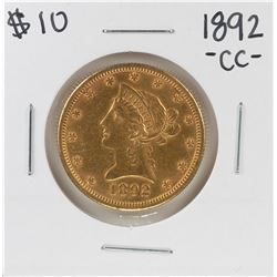 1892-CC $10 Liberty Head Half Eagle Gold Coin