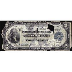 1918 $2 Battleship Federal Reserve Note Atlanta