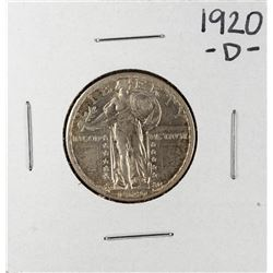 1920-D Standing Liberty Quarter Coin