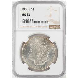 1901-S $1 Morgan Silver Dollar Coin NGC MS63