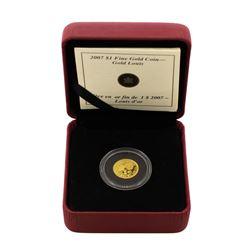 2007 Canada $1 Louis Gold Coin w/ Box & COA