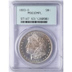 1883-O $1 Morgan Silver Dollar Coin PCGS MS63DMPL