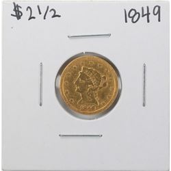 1849 $2 1/2 Liberty Head Quarter Eagle Gold Coin