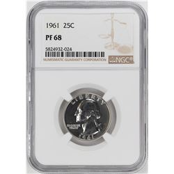1961 Proof Washington Quarter Coin NGC PF68