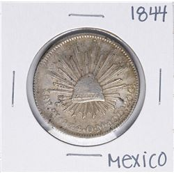 1844 Zm Mexico 8 Reales Silver Coin