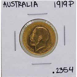 1919-P Australia Perth Mint King George V Sovereign Gold Coin