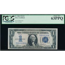 1934 $1 Silver Certificate PCGS 63PPQ