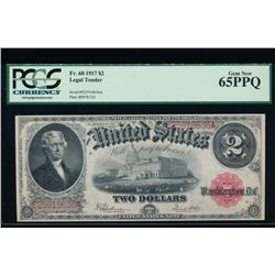 1917 $2 Legal Tender Note PCGS 65PPQ