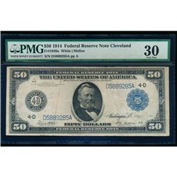1914 $50 Cleveland Federal Reserve Note PMG 30