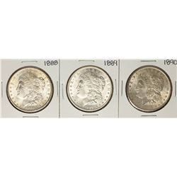 Lot of 1888-1890 $1 Morgan Silver Dollar Coins