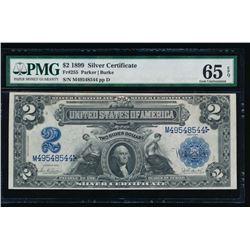 1899 $2 Mini Porthole Silver Certificate PMG 65EPQ