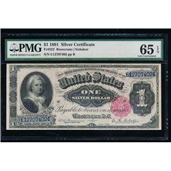 1891 $1 Martha Washington Silver Certificate PMG 65EPQ