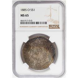 1885-O $1 Morgan Silver Dollar Coin NGC MS65 Nice Toning