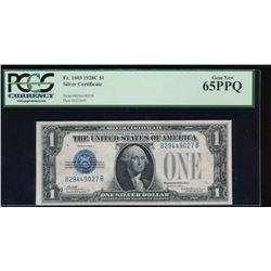 1928C $1 Silver Certificate PCGS 65PPQ