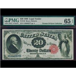 1880 $20 Legal Tender Note PMG 65EPQ