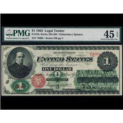 1862 $1 Legal Tender Note PMG 45EPQ