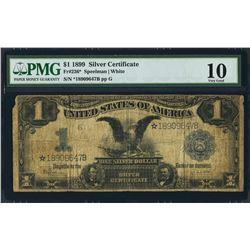 1899 $1 Black Eagle STAR Silver Certificate PMG 10