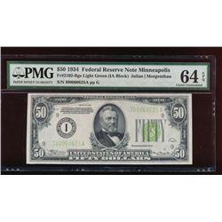 1934 $50 Minneapolis Federal Reserve Note PMG 64EPQ