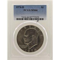1974-D Eisenhower Dollar PCGS MS66